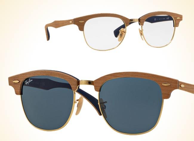ray ban clubmaster woodgrain bois lunettes 2 - Lunettes Ray Ban Clubmaster Woodgrain, le Bois c'est Chic !