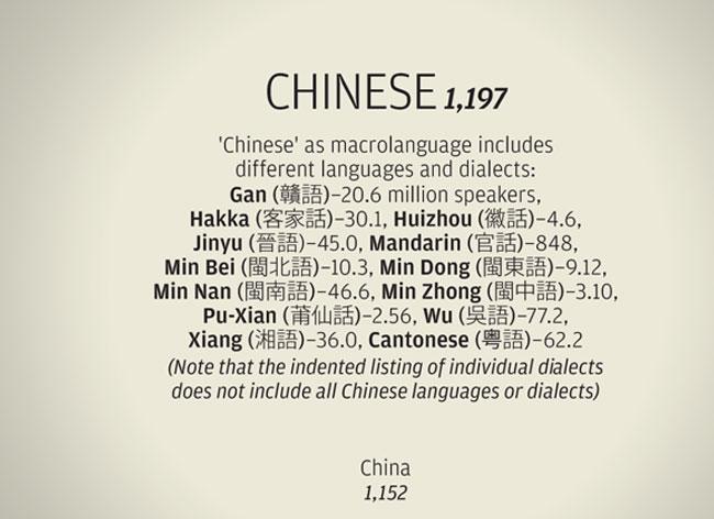 , 23 Langues les plus Parlées dans le Monde dans une Passionnante Infographie