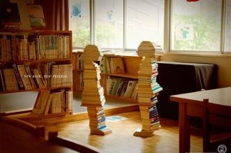 sculpture livres pub japon bibliothecaires dentsu 1 331x219 - Des Enfants Sculptés avec des Livres pour Recruter des Bibliothécaires