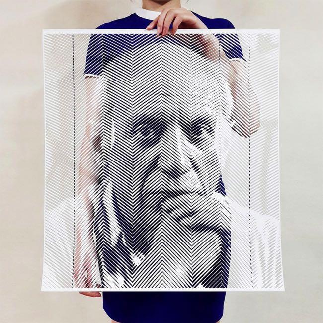 , Avec son Scalpel, il Découpe des Portraits Réalistes de Célébrités