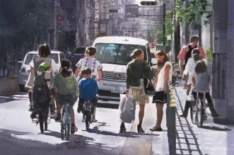 masato watanabe peinture aquarelle realiste japon 3 331x219 - Scènes de la Vie au Japon en Aquarelles Photo Realistes (video)