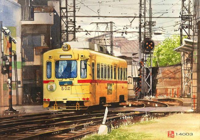 , Scènes de la Vie au Japon en Aquarelles Photo Realistes (video)