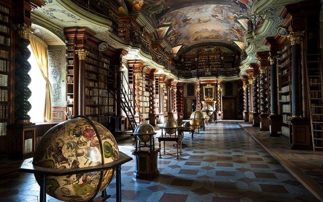 klementinum prague bibliotheque baroque 2 - Klementinum, la plus Baroque des Bibliothèques au Monde est à Prague