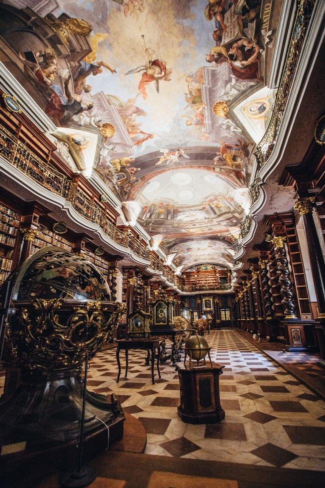 klementinum prague bibliotheque baroque 3 - Klementinum, la plus Baroque des Bibliothèques au Monde est à Prague