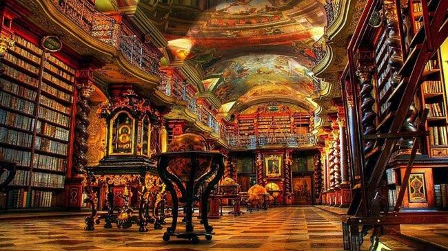 klementinum prague bibliotheque baroque 4 - Klementinum, la plus Baroque des Bibliothèques au Monde est à Prague