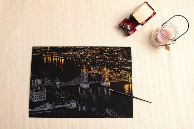 , Grattez ces Illustrations et Decouvrez la Beauté des Villes La Nuit