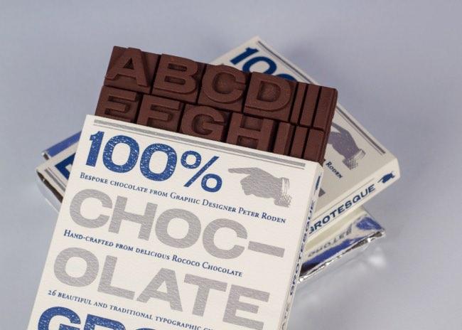 peter roden grotesque cv tablette chocolat 5 - En Guise de CV, Il Fabrique en 3D des Tablettes de Chocolat