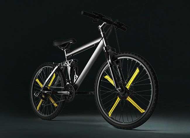 balight-lampe-led-jante-connectee-velo-rayons, Avec Balight les Rayons de votre Vélo font du Light Art (video)