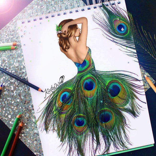 , Elle Complete ses Illustrations de Mode avec des Objets du Quotidien