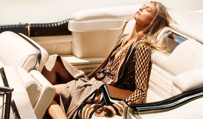 , Virée au Soleil pour Michael Kors Resort 2016 et Sasha Pivovarova