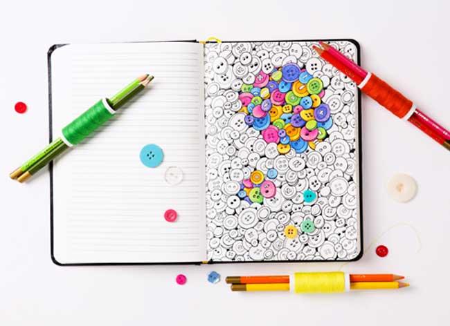 carnet notes coloriage coloring notebook 2 - Le Carnet de Notes à Colorier pour Booster votre Creativité