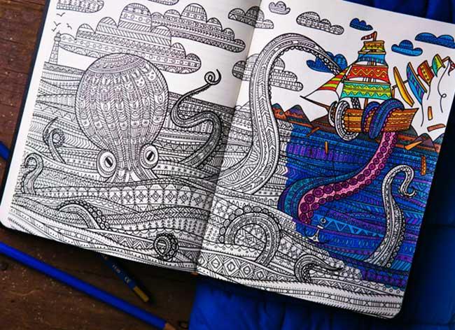 carnet notes coloriage coloring notebook 3 - Le Carnet de Notes à Colorier pour Booster votre Creativité