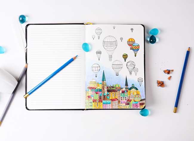 carnet notes coloriage coloring notebook 4 - Le Carnet de Notes à Colorier pour Booster votre Creativité