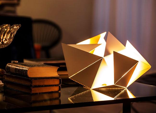 , Une Lampe Origami pour Jouer avec la Lumière (video)