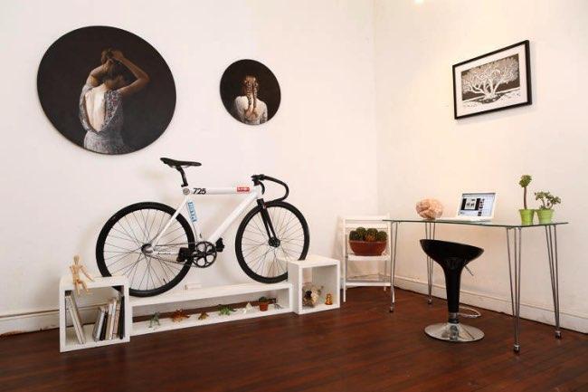 , Stationner votre Velo dans le Salon avec ce Meuble Design