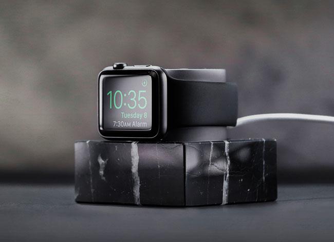 , La Montre Apple Watch a sa Station d'Accueil en Marbre