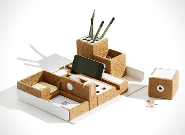 , Accessoires de Bureau en Liege pour Espace de Travail Minimaliste