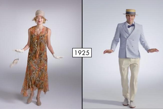 , 100 Ans de Tendances de Mode Femme et Homme (video)
