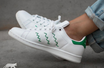 baskets adidas stan smith zig zag broderie 3 331x219 - Retour des Baskets Stan Smith avec 3 Bandes Brodées en Zig Zag