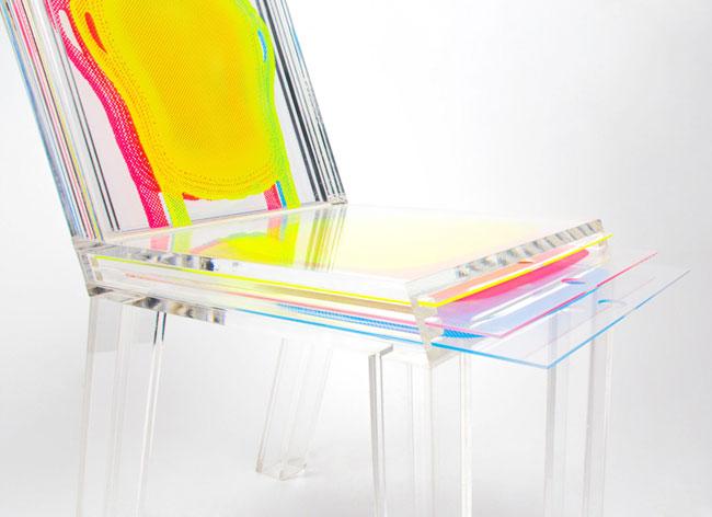 , Layer, la Première Chaise Transparente Personnalisable