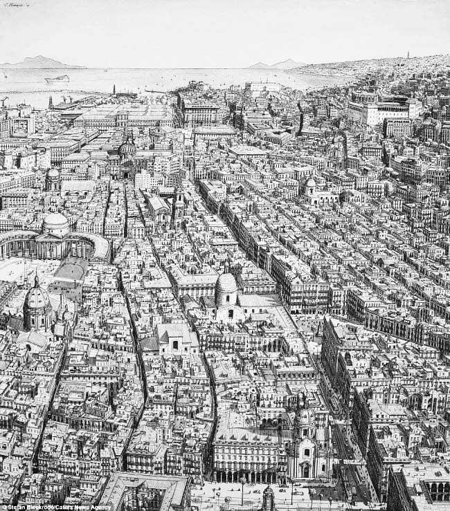 , De Mémoire, il Dessine les plus Grandes Capitales du Monde