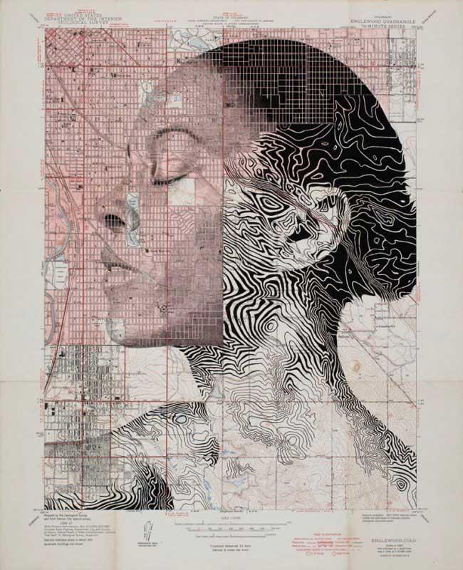 , Ces Portraits de Femmes sont des Cartes Routières