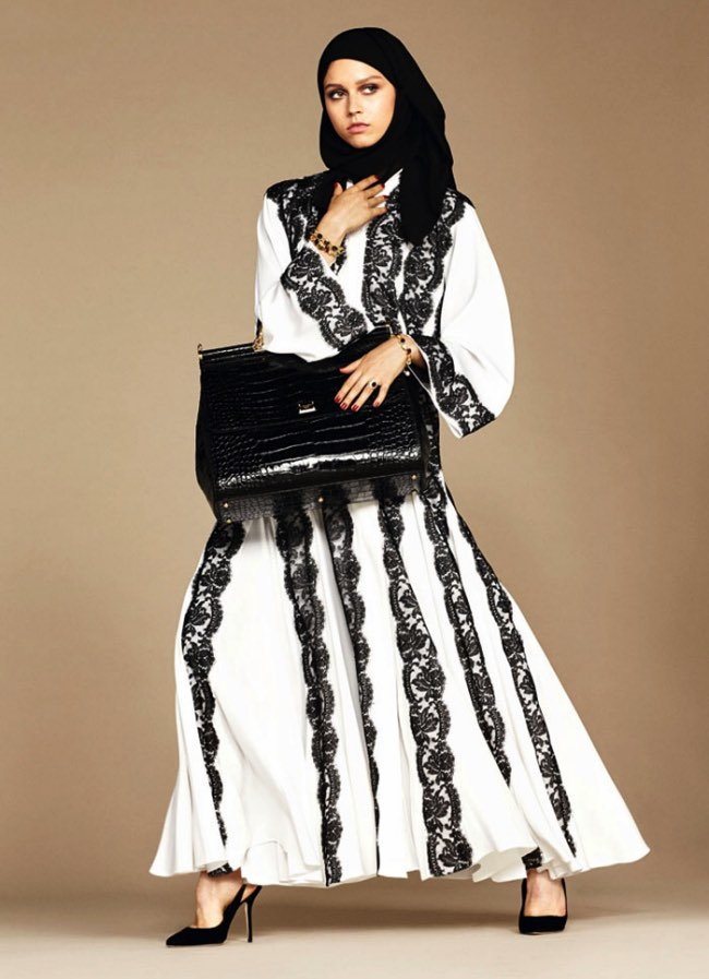 hijabs haute couture dolce gabbana 4 - Hijabs et Abayas Haute Couture Dolce & Gabbana
