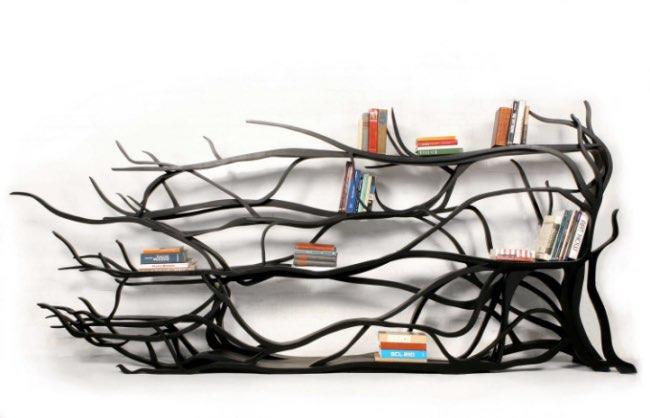 sebastian errazuriz branches bibliothèque sculpture, Quand les Branches des Arbres se font Mobilier Design