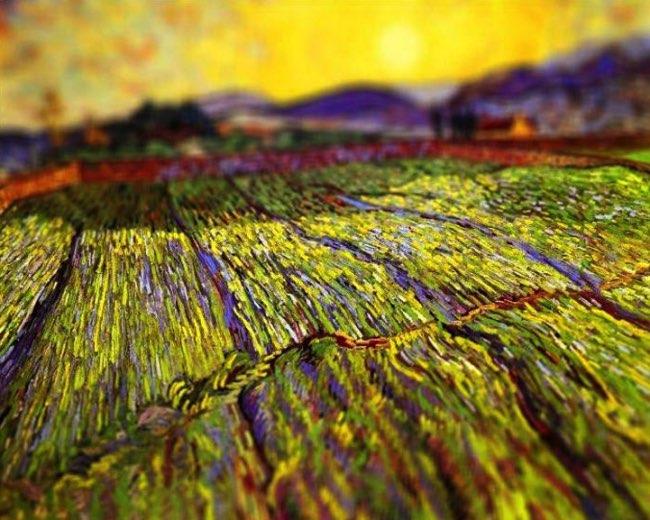 , Elle Fait Revivre les Toiles de Van Gogh avec un Effet Tilt-Shift