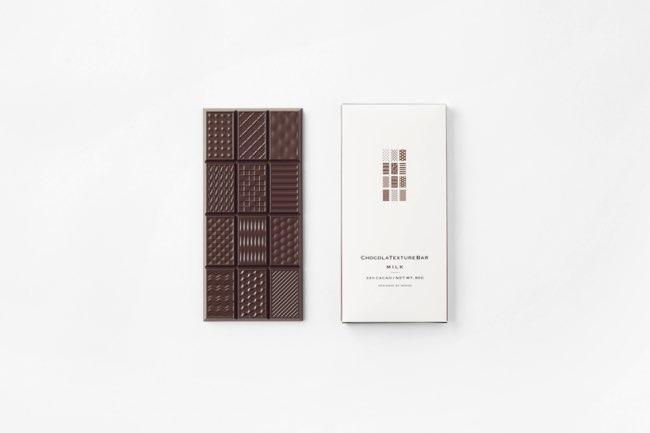, Les Carres de Chocolat Adoptent des Textures en 3D