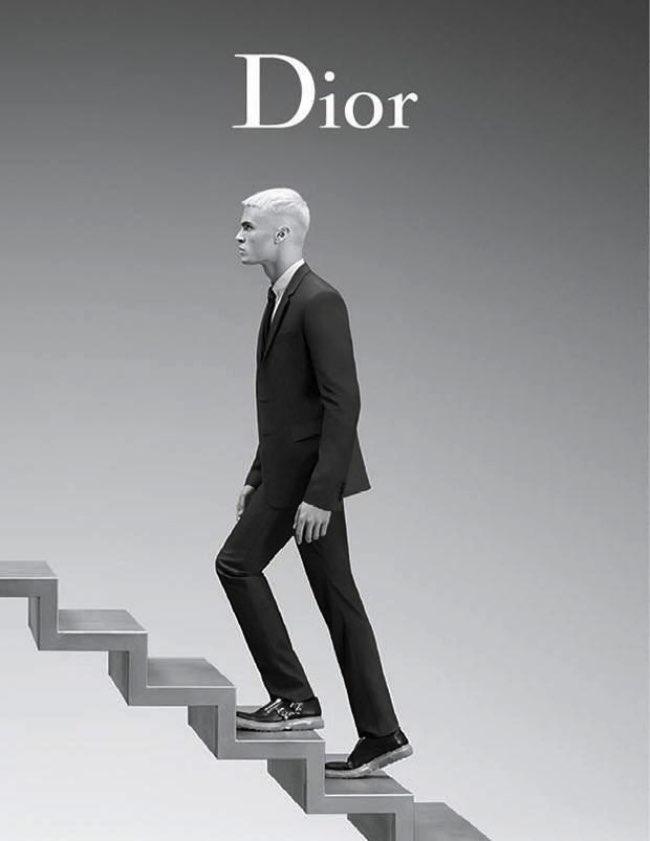 , Tendance Cheveux Blancs chez Dior Homme Ete 2016