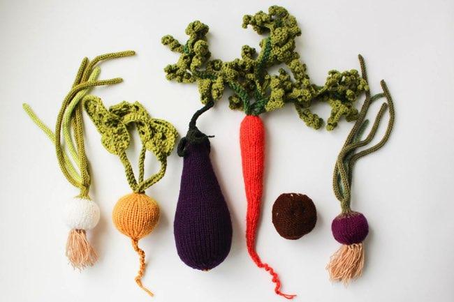 , Ces Réalistes Fruits et Légumes en Tricot sont à Croquer
