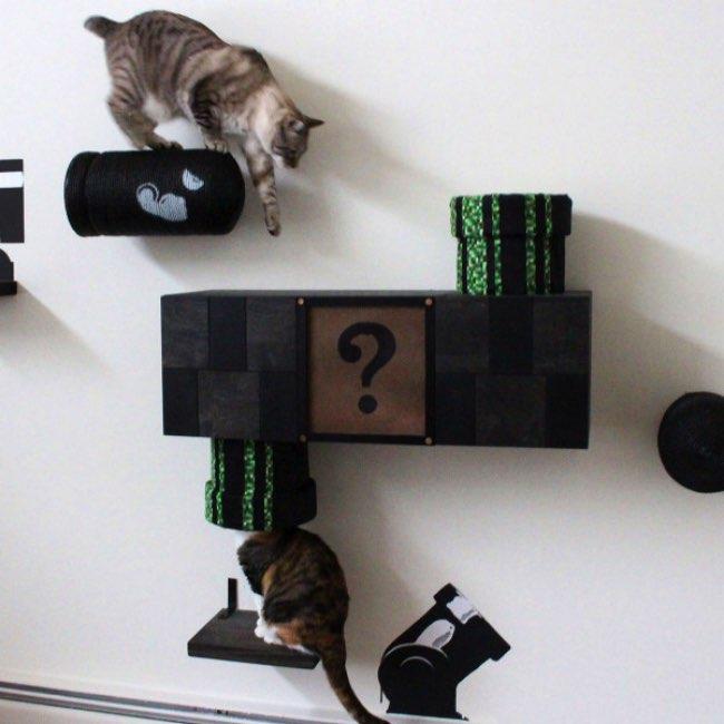 mario complex etagere chat jeu catastrophicreations 0 - Cette Étagère va Faire de votre Chat un Super Mario