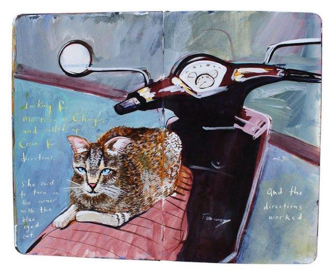 , Elle Peint ses Souvenirs de Voyage sur des Carnets Moleskine