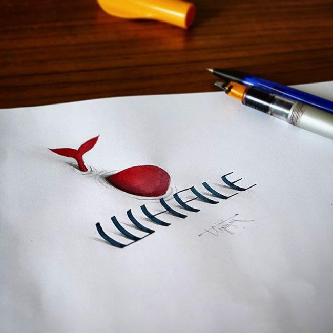 papier calligraphie 3d tolga girgin 1 - Ces Calligraphies en 3D Semblent Jaillir de la Feuille de Papier