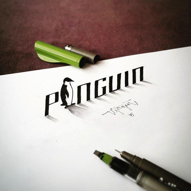 papier calligraphie 3d tolga girgin 2 - Ces Calligraphies en 3D Semblent Jaillir de la Feuille de Papier
