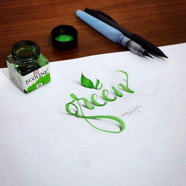 papier calligraphie 3d tolga girgin 9 - Ces Calligraphies en 3D Semblent Jaillir de la Feuille de Papier