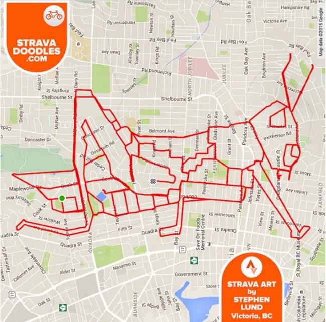 , Ces Dessins sont des Itinéraires GPS d'un Artiste Cycliste
