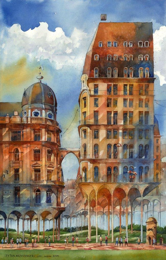 , Cet Architecte Peint à l'Aquarelle la Varsovie de ses rêves