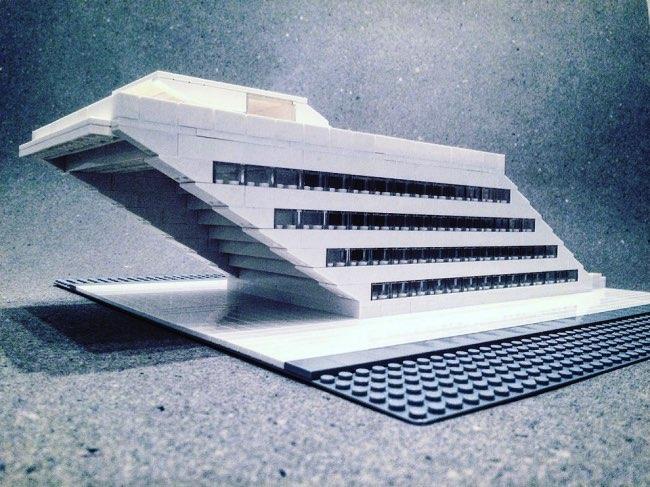 , Le Brutalisme en Architecture Revisité en Briques de Lego