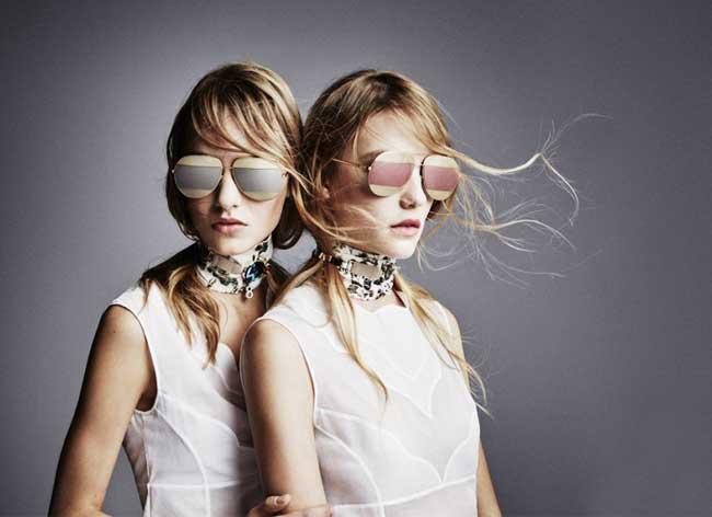 Bien connu Dior Split, les Lunettes de Soleil Aviator à Double Effet Miroir  YD89