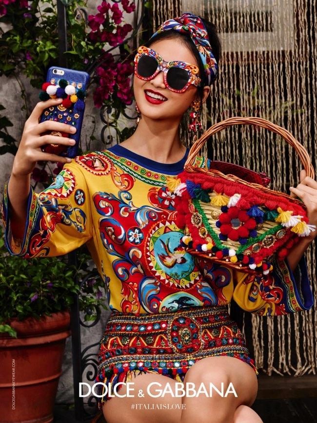 4d8383d9b333e4 Solaires XXL en Fleurs pour Dolce   Gabbana Ete 2016 - MaxiTendance