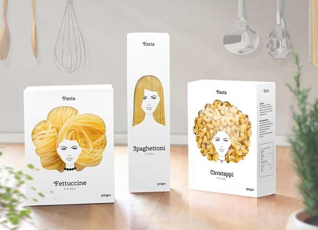 emballage pates italienne nikita design cheveux 1 - Voici les Plus Glamour des Paquets de Pâtes Italiennes