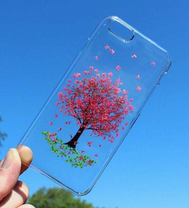 fleurs veritables houseofblings iphone coque transparents 5