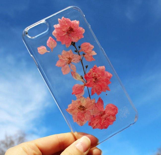 fleurs veritables houseofblings iphone coque transparents 6