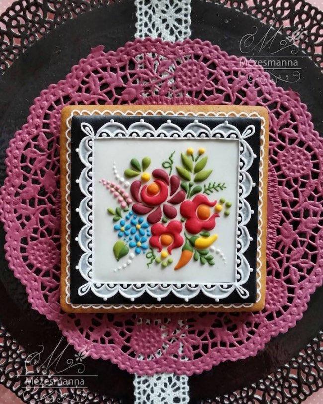 mezesmanna broderies art gateaux 2 - Ces Délicieux Gâteaux aux Décorations Brodées sont à Croquer (video)