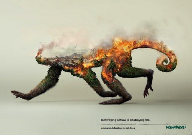 robin wood campagne 2016 pub environnement 1 - Campagne en Double Exposition pour Protéger l'Environnement