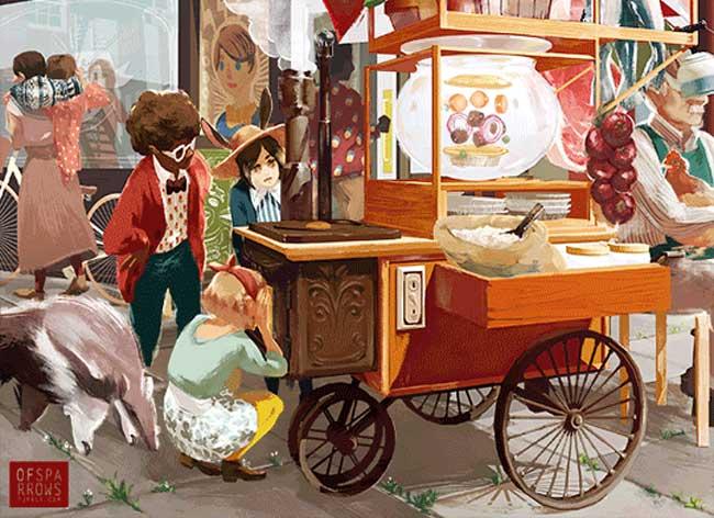 , Des Histoires Poétiques et Illustrées en Images GIF Animées
