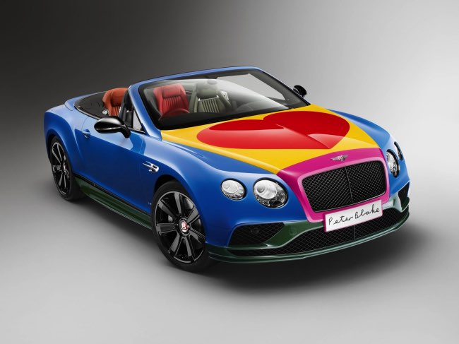 , Une Bentley Continental Relookée par l'Artiste Peter Blake