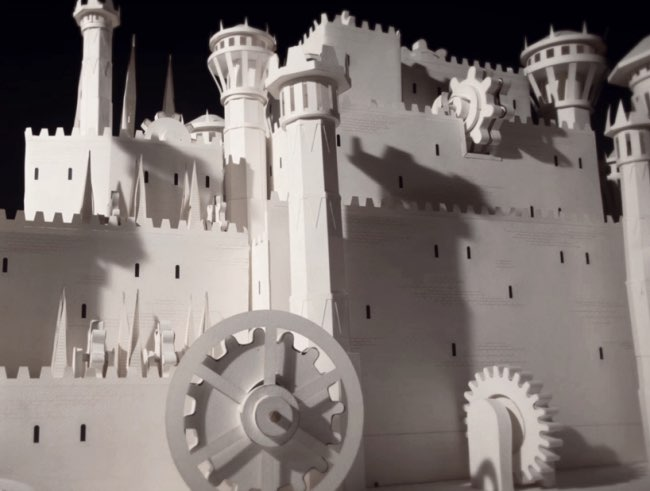 , Le Générique 'Game of Thrones' en Film d'Animation Papier (video)